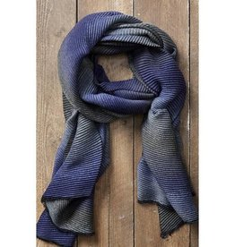 Tickled Pink Ombre Ridged Scarf - Purple and Gray