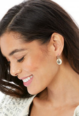 Brighton Free Spirit Hoop Drop Earrings Silver-Ivory
