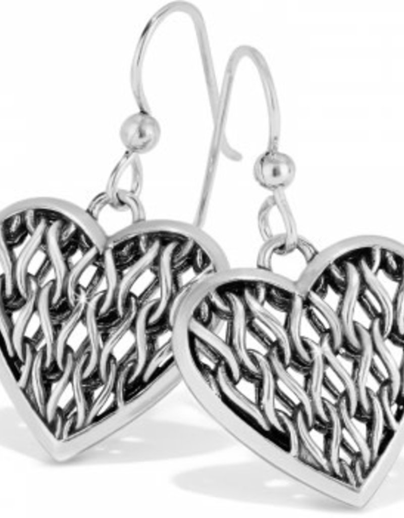 Brighton Delicate Memories Heart French Wire Earrings Silver