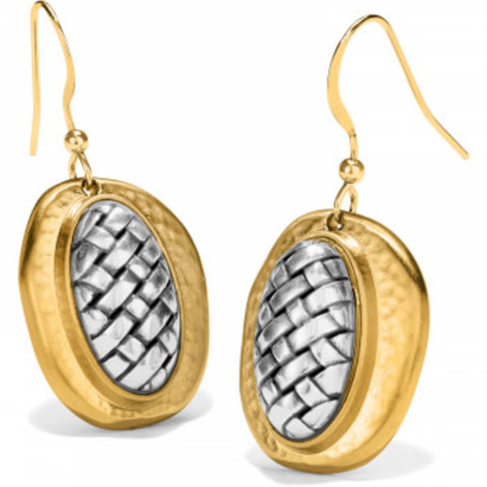 Brighton Ferrara Artisan Two Tone French Wire Earrings Silver-Gold