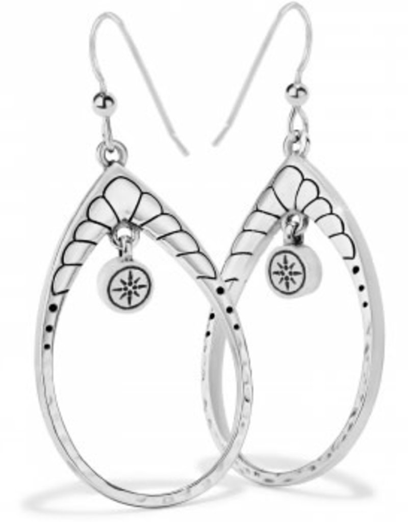 Brighton Marrakesh Mystique Open Teardrop French Wire Earrings Silver-Turquoise