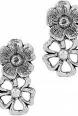 Brighton Lux Garden Post Drop Earrings Silver-Gold OS