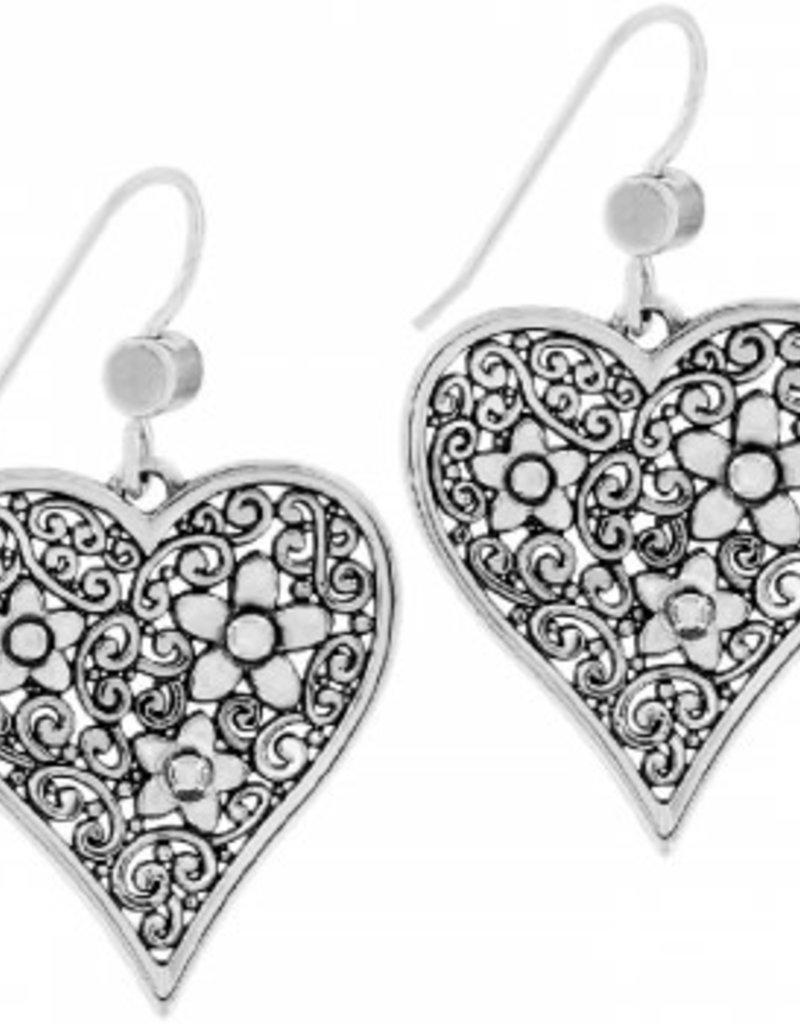 Brighton Baroness Fiori Heart French Wire Earrings Silver