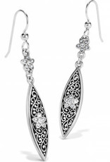 Brighton Baroness Fiori Marquise French Wire Earrings Silver