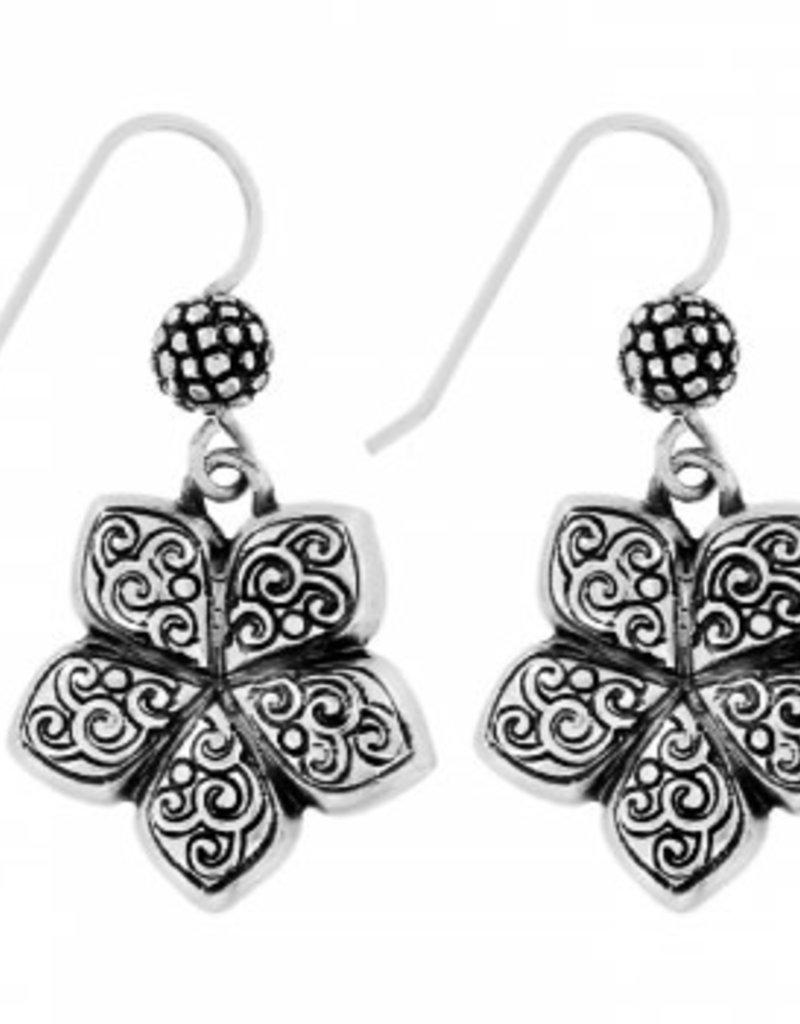 Brighton Uluwatu Flower French Wire Earrings Silver