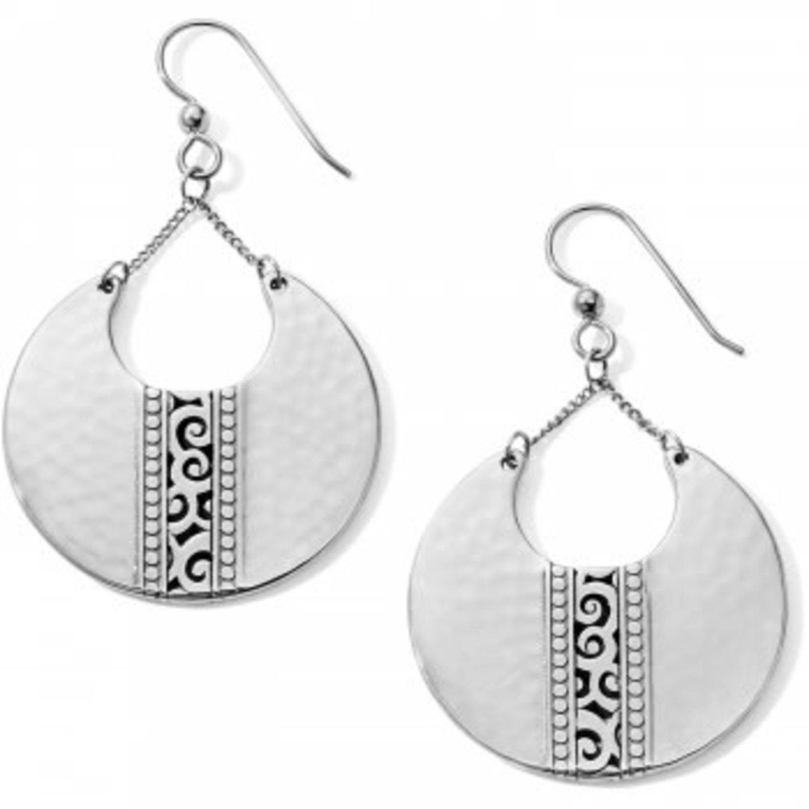 Brighton Earrings/Mingle Large Disc On Chains Fr Wr