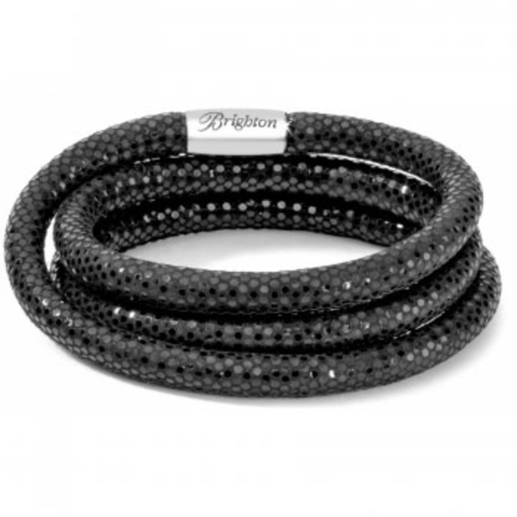 Brighton 60549 Bracelet/WoodstockTripleBlkShine