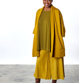 Bryn Walker Marta Bamboo Fleece Oversized Open Front Coat in Reisling