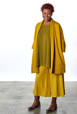 Bryn Walker Soft French Terry Top w/ Round Neck and Elongated Sides in Reisling