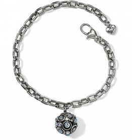 Brighton Halo Sphere Bracelet; Size : Silver-Tanzanite