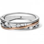 Brighton Neptune's Rings Gems Hinged Bangle Silver-Gold