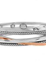 Brighton Neptune's Rings Gems Hinged Bangle Silver-Gold