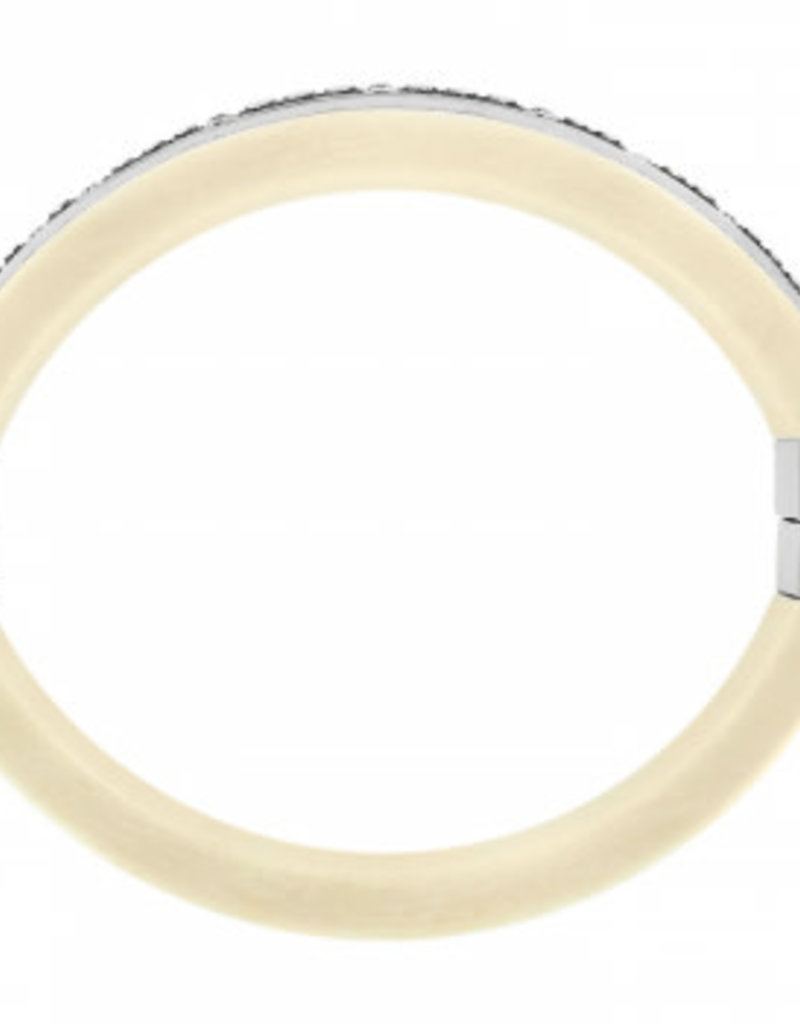 Brighton Free Spirit Hinged Bangle Silver-Ivory