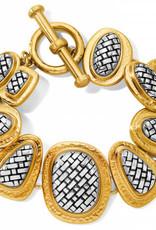 Brighton Ferrara Artisan Two Tone Bracelet Silver-Gold