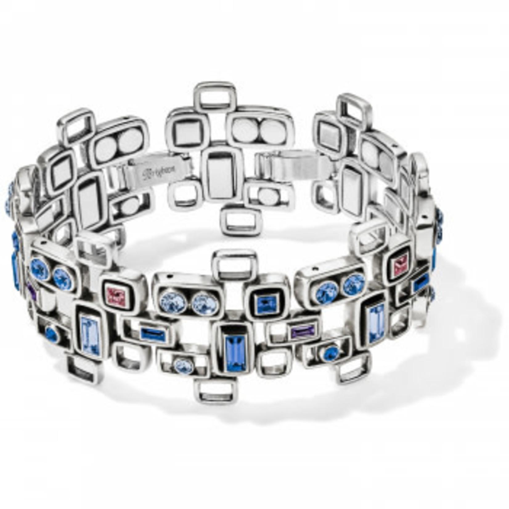 Brighton Emilie Wide Link Bracelet Silver-Blue