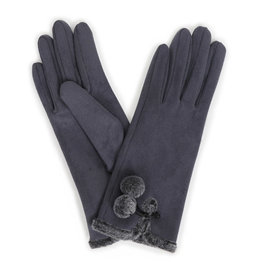 Powder Amelia Suede Gloves - Charcoal