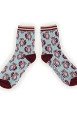 Powder Ladies Ankle Socks - Raccoon Raider
