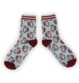 Powder Ladies Ankle Socks - Raccoon Raider