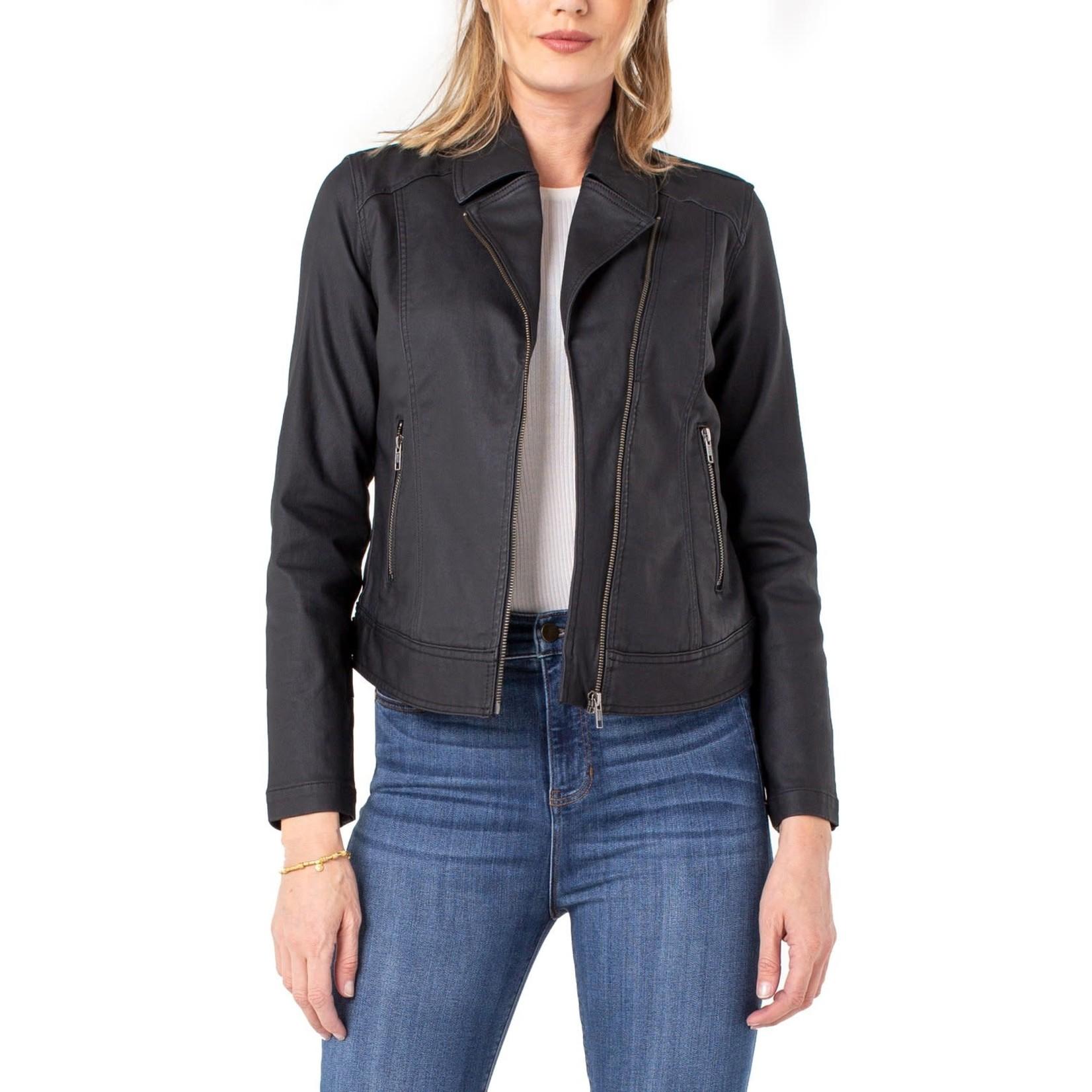 Liverpool Black Clean Moto Jacket