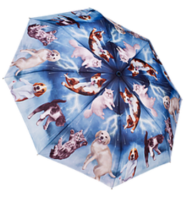 Raining Cats & Dogs Reverse Close Folding Umbrella