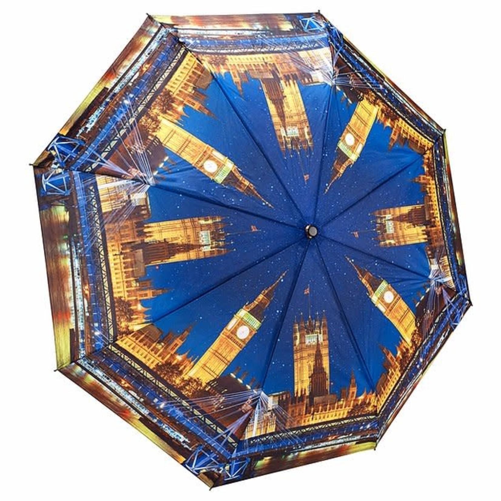 London At Night Folding Umbrella