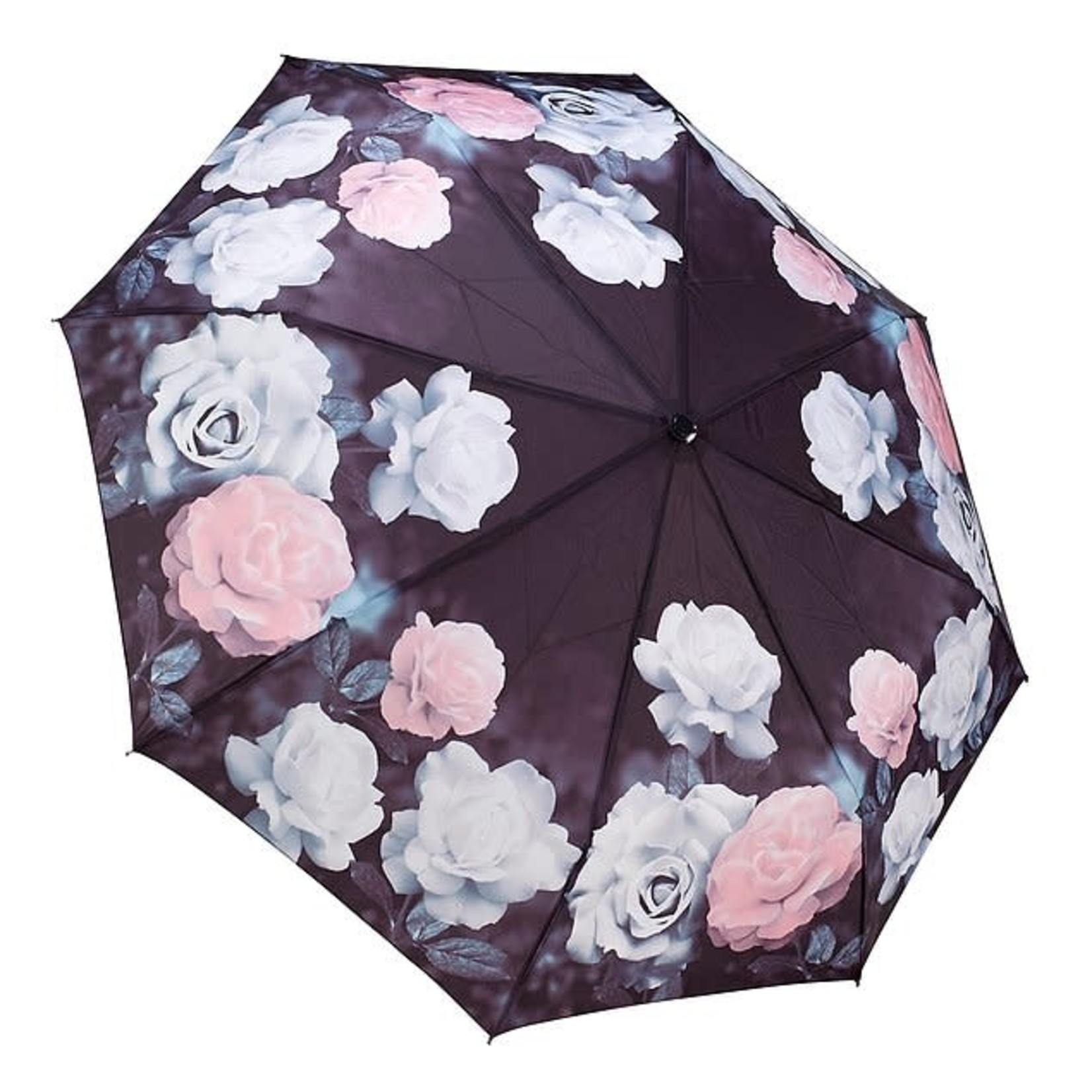 Vintage Rose Reverse Close Folding Umbrella