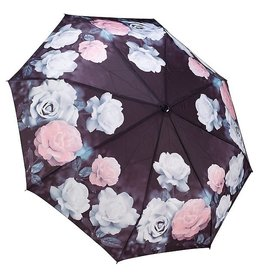 Vintage Rose Reverse Close Folding Umbrella