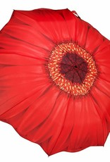 Red Daisy Folding Umbrellla