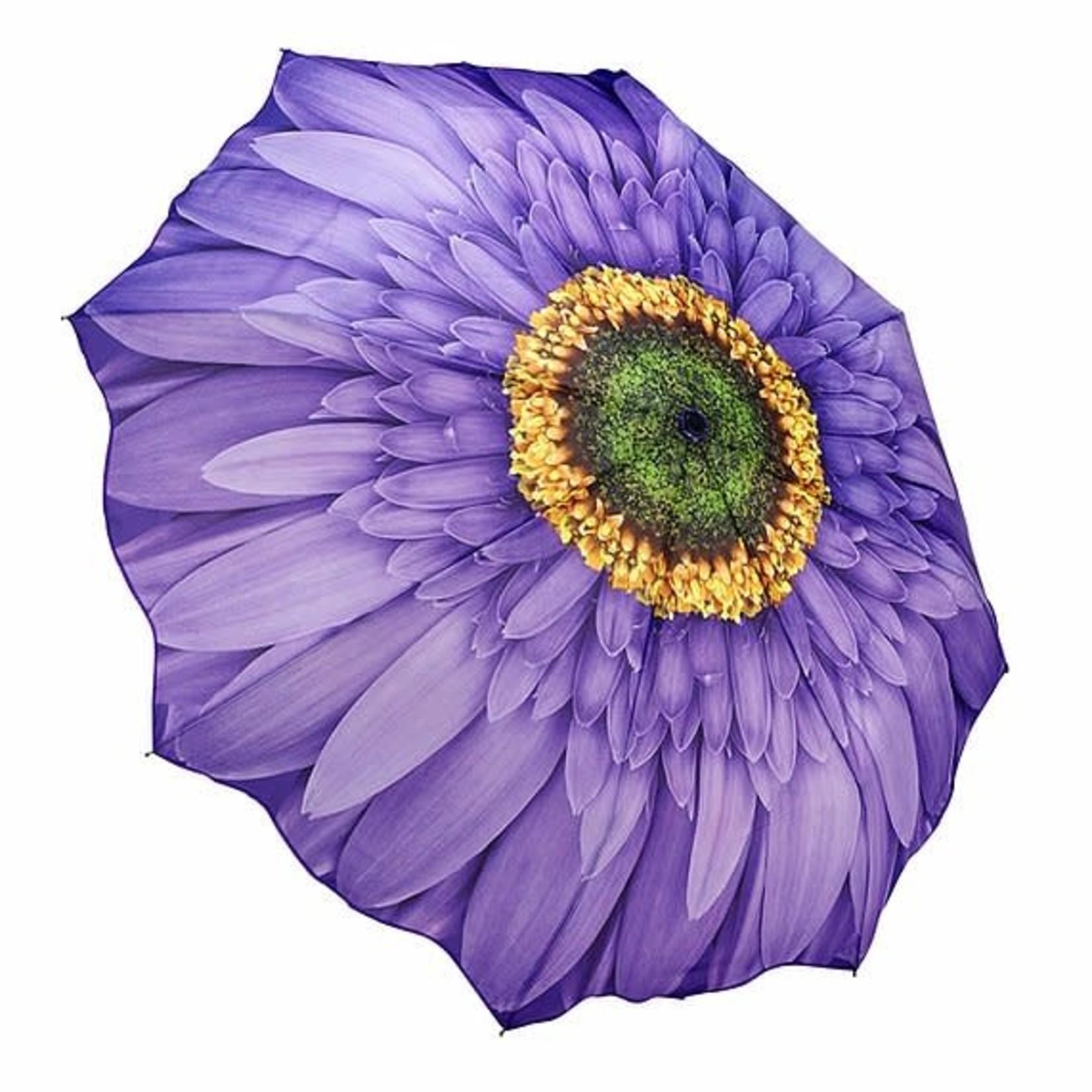 Purple (Wisteria) Daisy Folding Umbrella