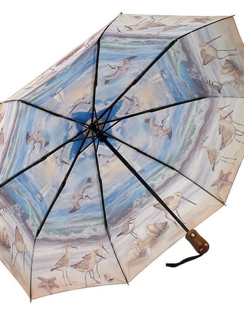 Beach Scene Folding Umbrella