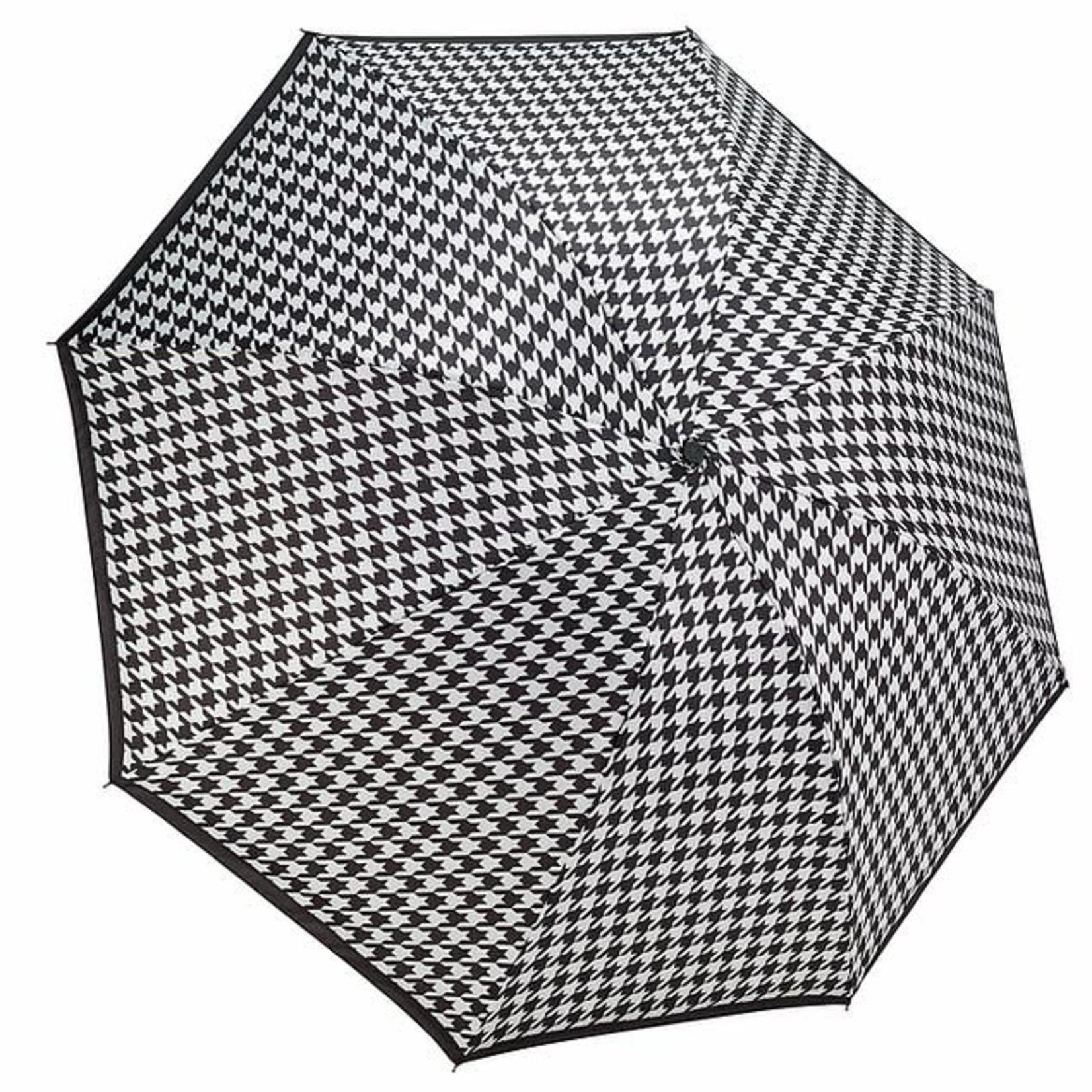Houndstooth Reverse Close Folding Umbrella