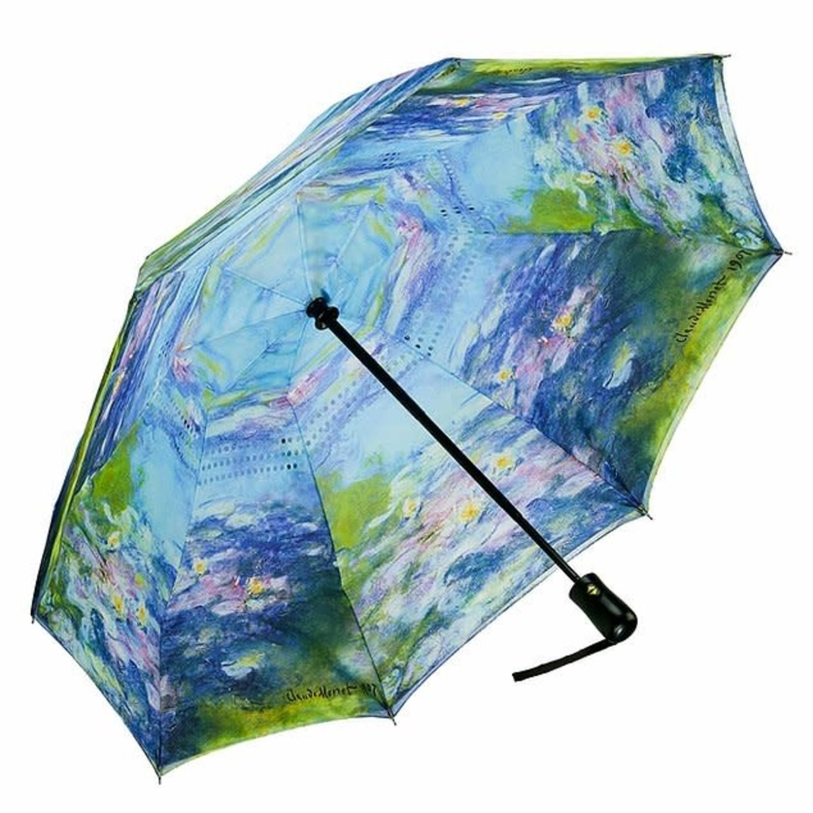 Water Lilies Reverse Close Folding Umbrella