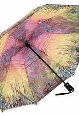 Water Lilies Sunset Reverse Close Folding Umbrella