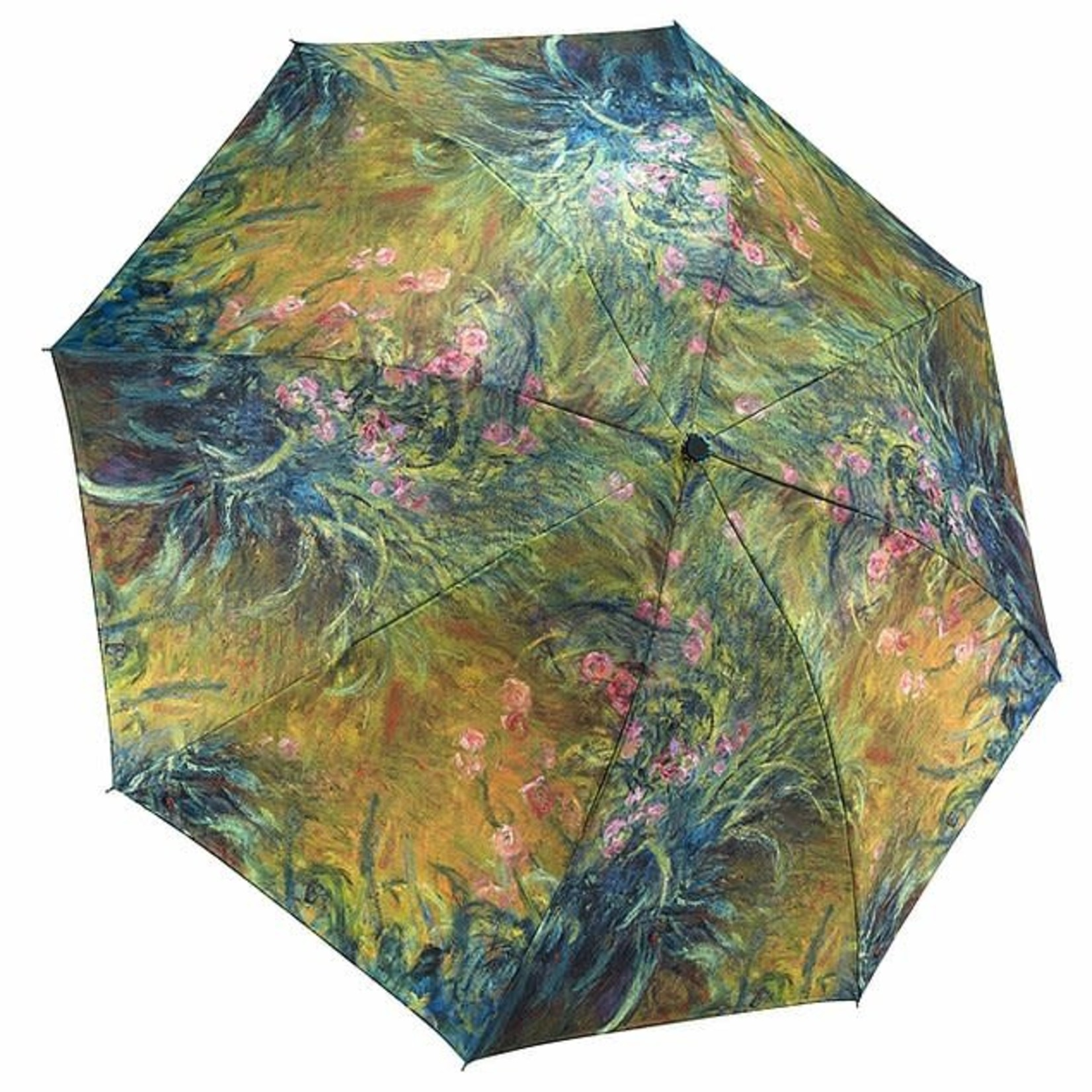 Irises by Monet Reverse Close Folding Umbrella