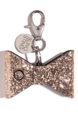 Blingsting Rose Gold Glitter Bow Personal Alarm