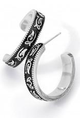 Brighton Moonlight Garden Hoop Earrings Silver OS