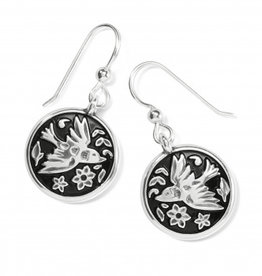 Brighton Moonlight Garden French Wire Earrings Silver OS