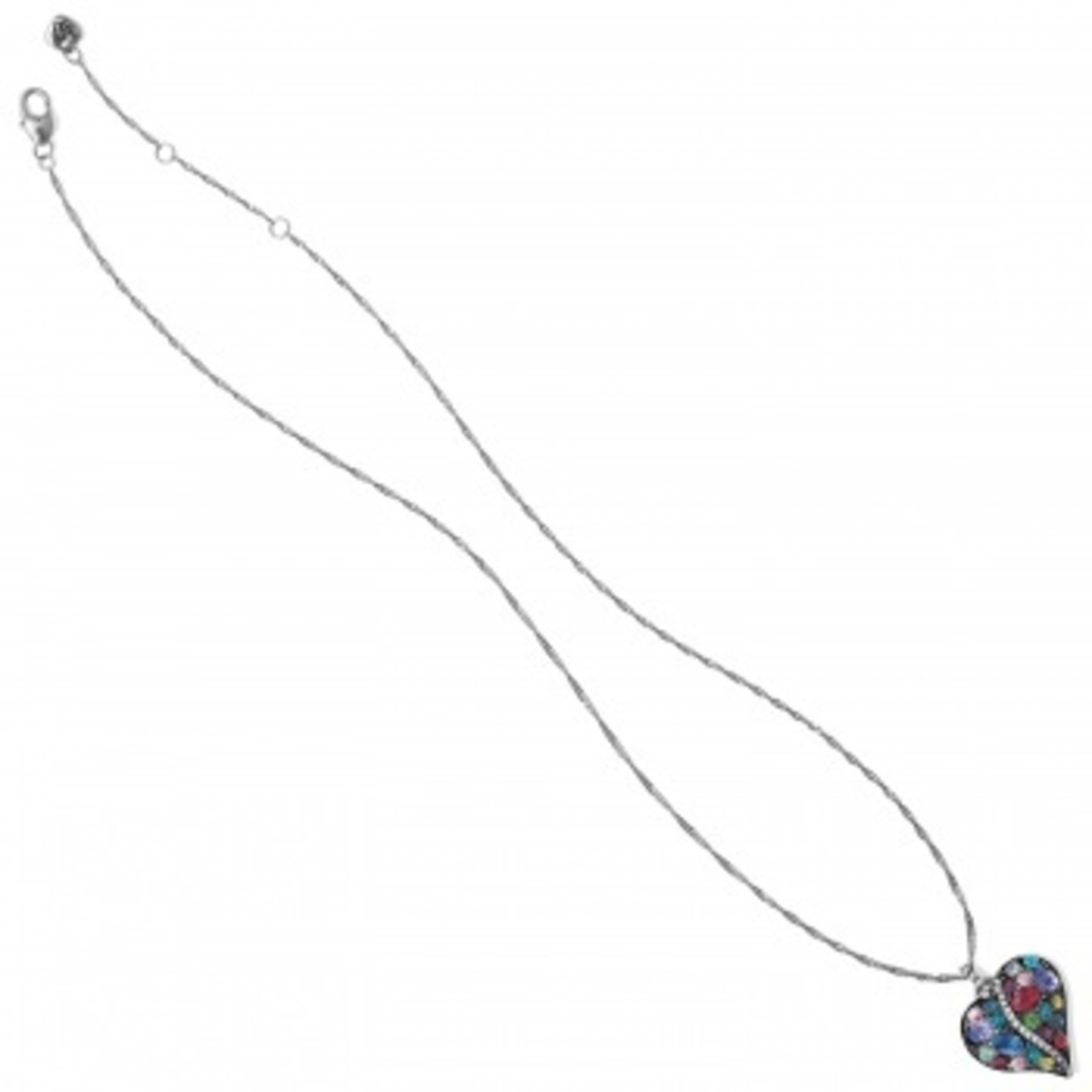 Brighton Trust Your Journey Heart Necklace Silver-Multi