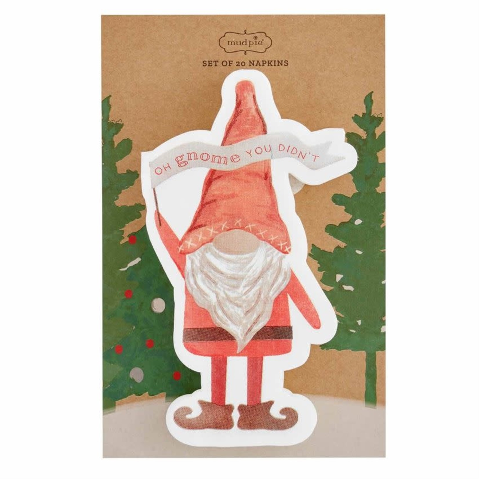 Oh Gnome Shaped Paper Napkin