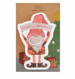 Holiday Gnome Shaped Paper Napkin