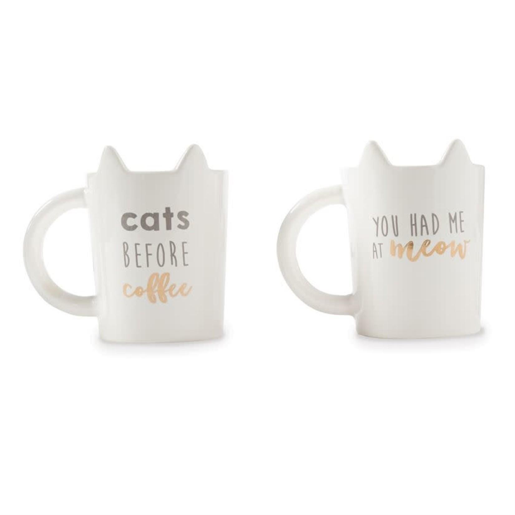 Cat Before Coffee Ear Mug
