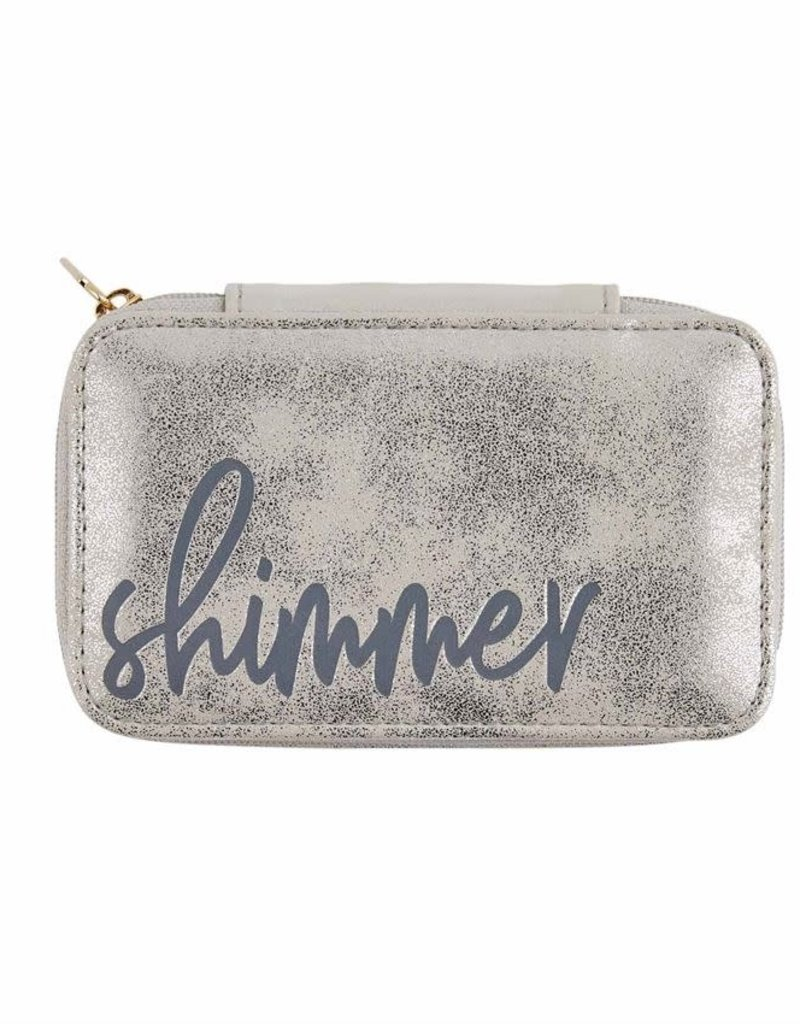 Shimmer Mini Jewelry Case in Gray