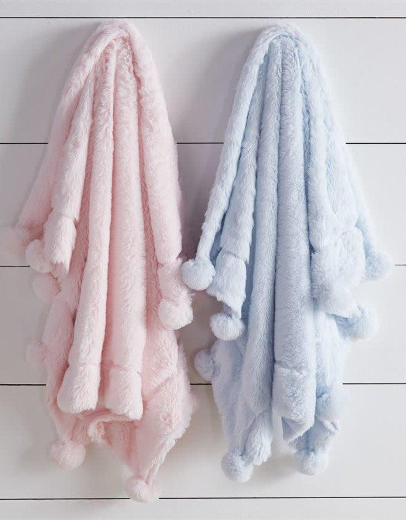Pink Pom Pom Blanket