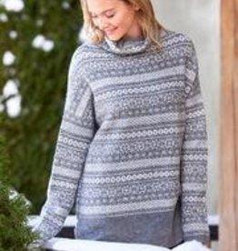 Charlie Paige Fair Isle Grey Knit Sweater