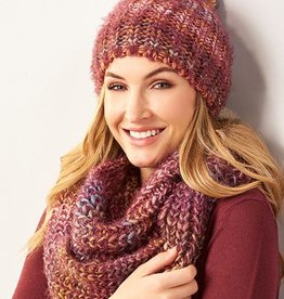 Charlie Paige Ombré Knit Winter Hat & Scarf Set/3 Asstd Colors