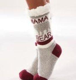 Charlie Paige Sherpa Lined Mama Bear Slipper Socks