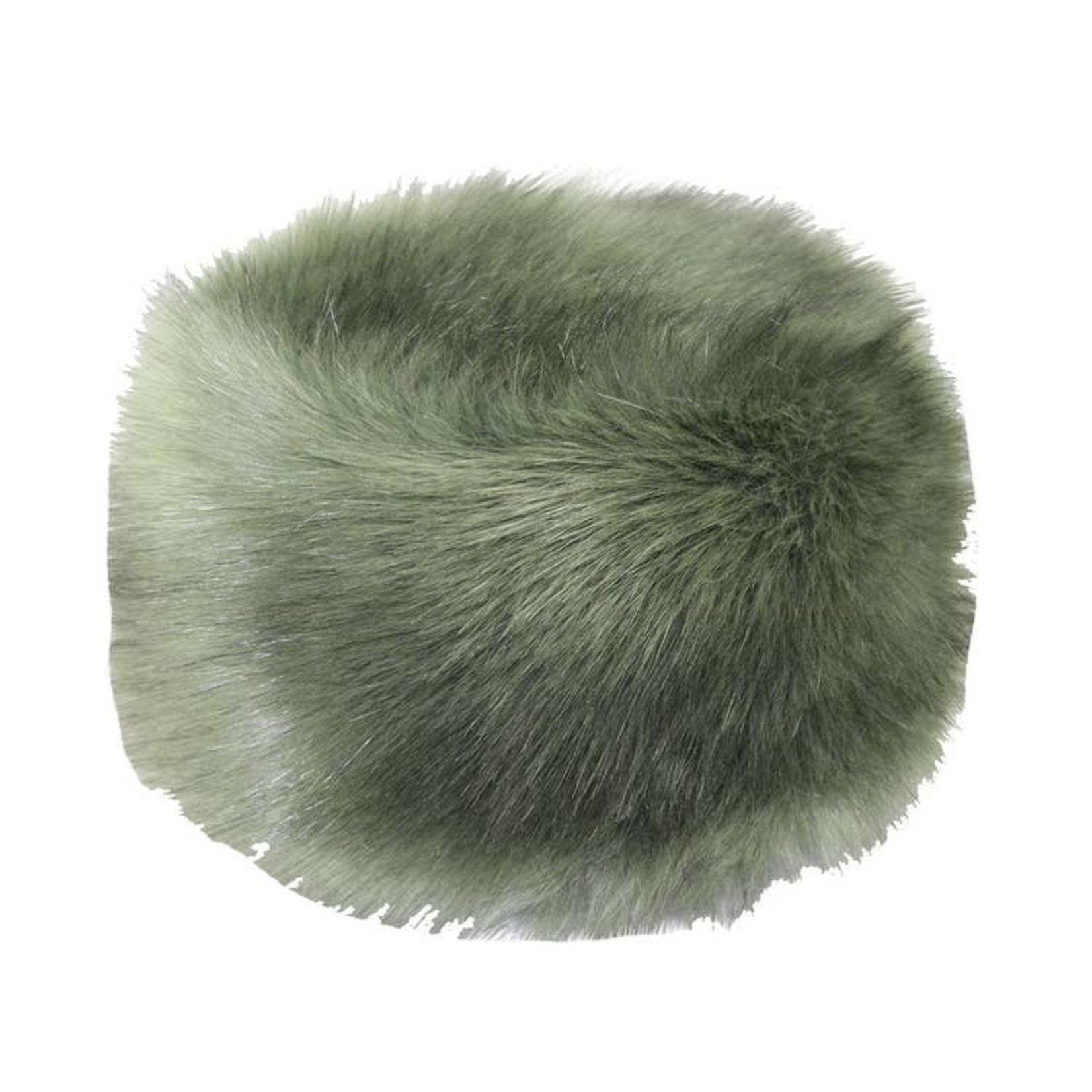 Hat Stack Green Faux Fur Hat w/ Fleece Lining