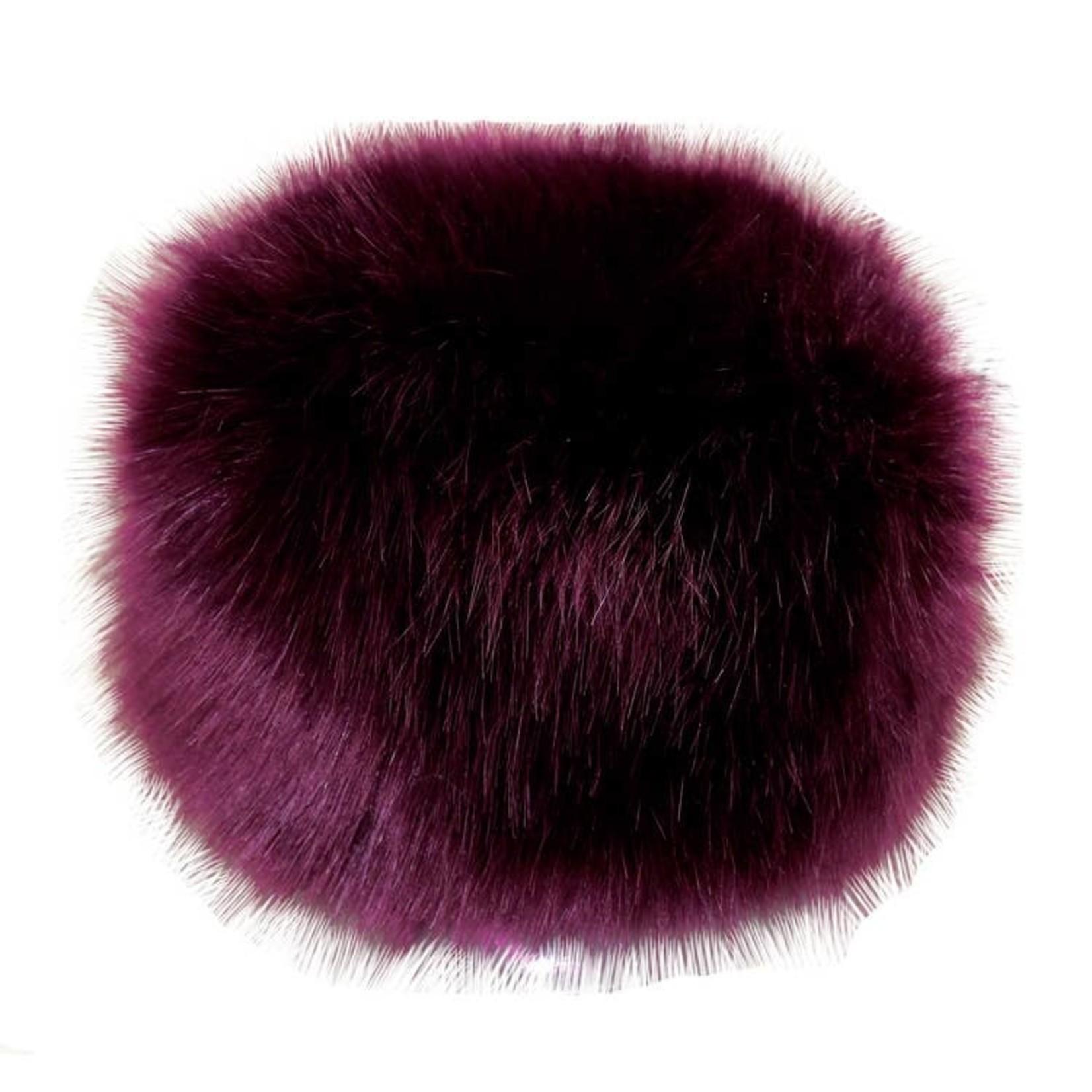 Hat Stack Purple Faux Fur Hat w/ Fleece Lining