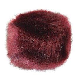 Hat Stack Red Faux Fur Hat w/ Fleece Lining