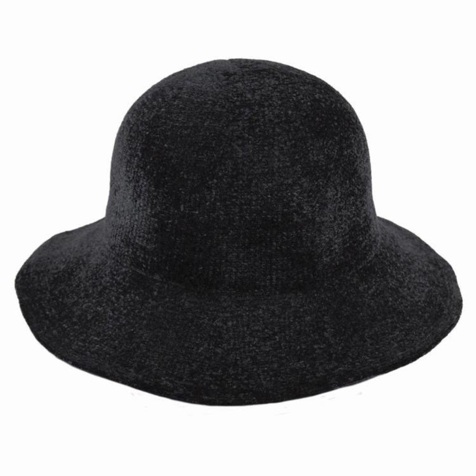 Jeanne Simmons 100% Chenille Floppy Brim Hat - Black